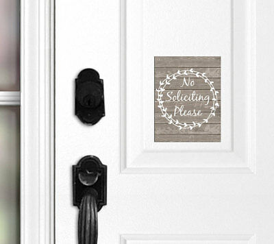 No Soliciting Door Magnet, No Soliciting Sign, Do Not Disturb Sign, Front Door