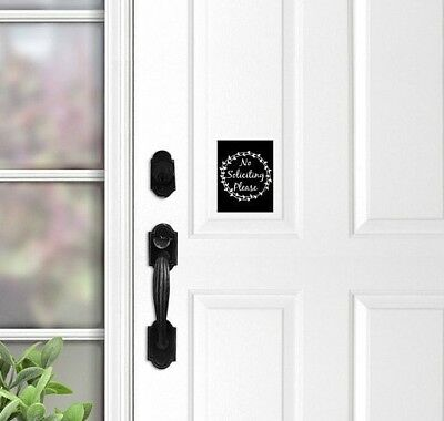 No Soliciting Door Sign, Do Not Knock Sign, Front Door Magnet, Do Not Ring Bell