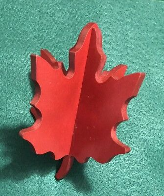 Longaberger Woodcrafts RED MAPLE LEAF Fall Color Decor