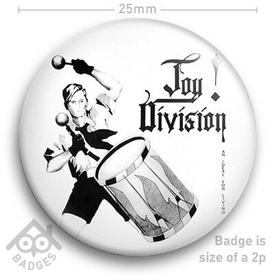 """Joy Division AN IDEAL FOR LIVING - Ian Curtis Factory Records Badge 25mm 1"""" NEW"""