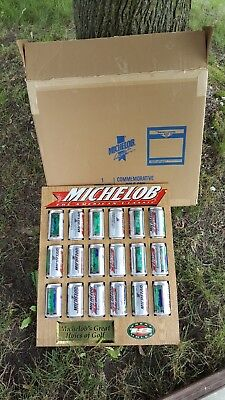 michelob commemorative beer sign great holes of golf 18 can sign
