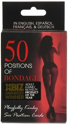 50 Positions of Bondage Cards Sex Position Game Thousands Possible Fantasies
