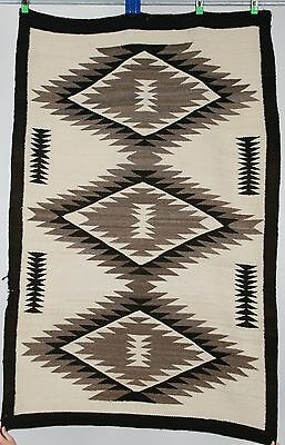 Early Navajo rug, blanket Native American textile weaving Crystal pattern 1920's