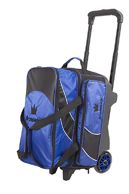 Brunswick Edge Premium 2 Ball Roller Bowling Bag Color Blue
