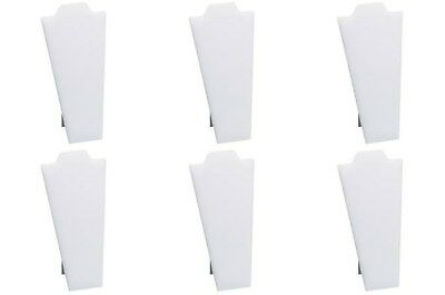 "6 White Necklace Pendant Easel Back Portable Jewelry Displays 4 1/4""W x 8 7/8""H"