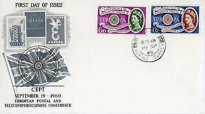 GB 1960 Europa CEPT illust FDC with WOKING CDS