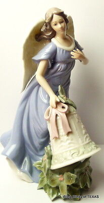Christmas Angel Grandeur Noel Porcelain Feathered Wings Home Decor 2003