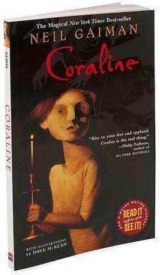 NEW Coraline By Neil Gaiman Paperback Free Shipping