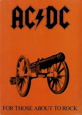 Ac/dc 1981 For Those About To Rock Tour Concert Poster / Program Book / Vg 2 Ex