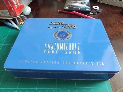 Star Trek TNG Customizable Card Game Limited edition Collectors Tin