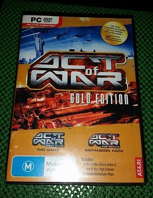Act Of War Gold Edition PC DVD ROM Game Includes Game and Expansion Pack