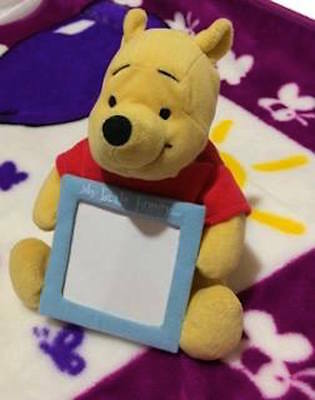 "Pooh Wind Up Picture Frame Collectors Dolly Inc 7"" Disney Nursery Decor"