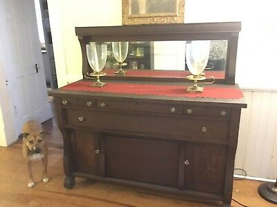 Antique Tiger Oak Empire Buffet