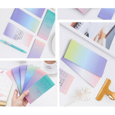 1 Set Long Gradient Note Sticker Stationery Sticky School and Office Accessory