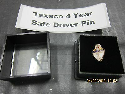 Texaco 4 Year Safe Driving Pin