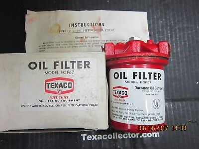 Texaco Fuel Chief Heating Oil Filter FOF67