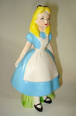 Walt Disney Alice in Wonderland Figurine Ceramic Japan Vintage RARE 1960s