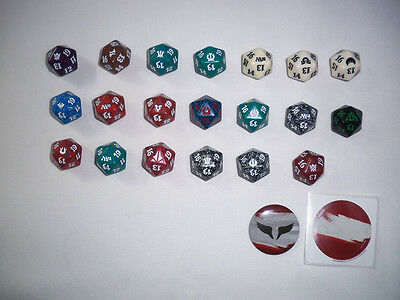 Magic MTG 20x Spindown Life Counter Collection + Pin -NEW Condition-