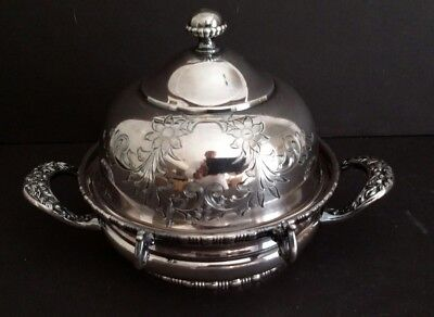 Simpson Hall Miller Co. Silver Quad Plate Lidded Butter Dish Victorian 1890s