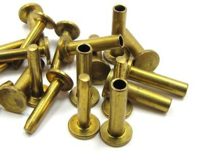 Brass Cutlery Compression Set of 10 Rivets 16 x 3 x 8 mm heads NEW-KNIFE-PARTS-