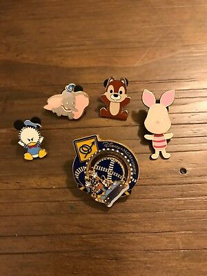 Disney Pins Lot of 5 MGM, Piglet, Dumbo, Donald, Chip