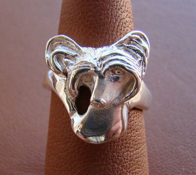 Sterling Silver Chinese Crested Head Study Ring