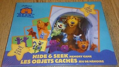 Bear In The Big Blue House Rare Hide And Seek Memory Game Vintage New Sealed Box