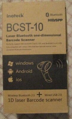 Inateck BCST-10 Laser Bluetooth one-dimensional Barcode Scanner
