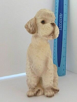 Vintage 1950s Large Trimont-Ware White Poodle Dog Figurine Ceramic Made in Japan