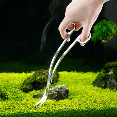 Professional Aquarium Tank S Curve Wave Scissors Shear Aquatic Plants Tool New