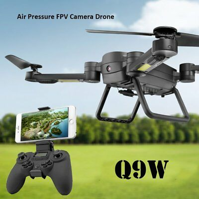 RTF New Drone Camera Q9W RC Quadcopter Wifi HD Camera 2 Mode Transmitter Black