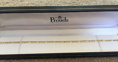 Brand New Prouds Solid 9ct Gold Anklet Chain 25cm RRP$325