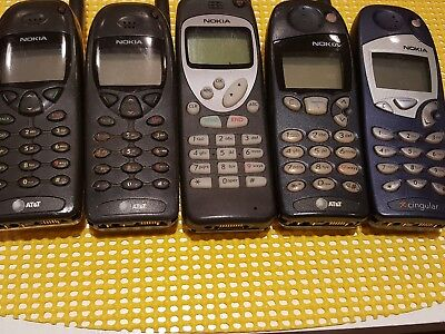 Lot Of 5 Good Condition Vintage At&t Nokia Cell Phones