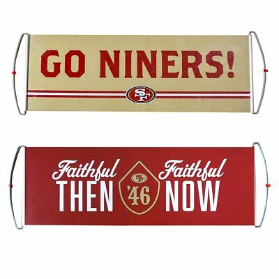 b1b3a2a2 SF 49ERS FAITHFUL Then & Now Banner San Francisco 2017 Sga Levi's Nfl New  Niners