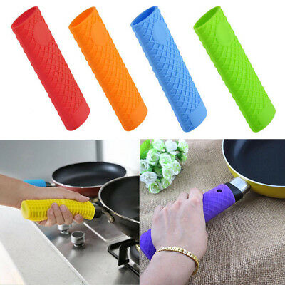 Thick Heat Insulation Silicone Rubber Frying Pot Pan Handle Holder Grip Cover UK