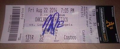 Mike Trout Los Angeles Angels Mvp Signed Autographed Game Ticket Stub Baseball
