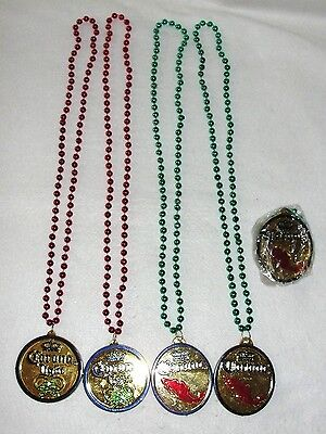 3 Corona and 2 Corona Light Plastic Beads Necklaces