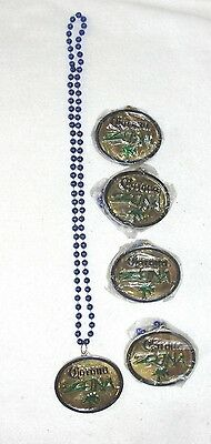5 Corona Zona Plastic Beads Necklaces