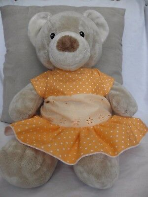 Dress/bloomers to fit Pumpkin Patch teddy bear girls 15inch Build a bear clothes