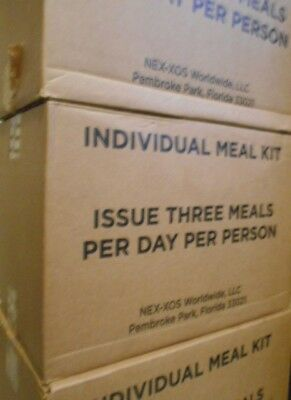 Civilian MREs, Military Type Ready to Eat MEALS 12 pack CASE Best used 06/2018