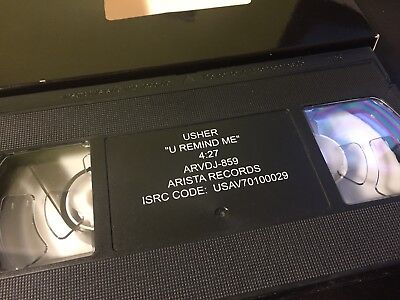 Rare USHER U Remind Me Promo VHS Video Tape Hip Hop Rap R&B Soul Chilli TLC 8701