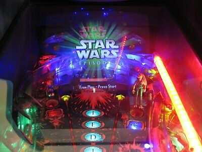 Star Wars Episode 1 Pinball Machine Full LEDS upgrade