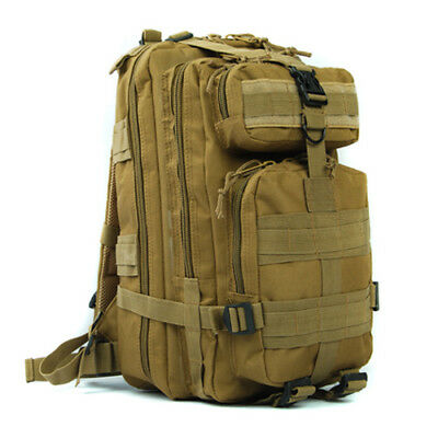 Molle Tactical Assault Backpack 3-Pocket Padded Shoulder Bag Airsoft Rucksack