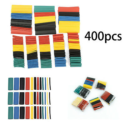 400Pc Heat Shrink Tubing Tube Sleeve Kit Car Assorted Electrical Cable Wire Wrap