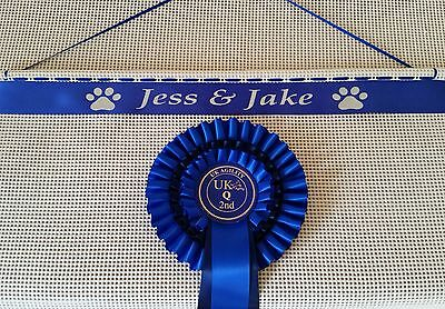 Personalised Dog Show  Rosette Holder , Dog Show Rosettes.Dog Agility Rosettes