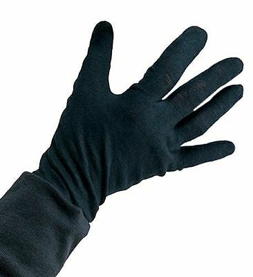 Childrens Black Cotton Gloves for Halloween Ghost Ghoul Grim Reaper 385