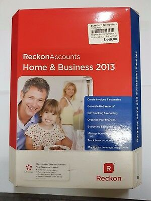 Reckon Accounts Home & Business 2013 Full Version - QPH22AF10