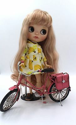 """Blythe Pullip 1/6 12"""" Doll Bicycle  Miniture Home Decorative in Pink"""