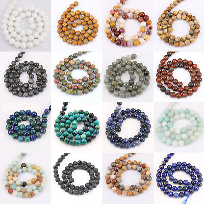 Wholesale Natural Colorful Stone Agate Quartz Gemstone Loose Spacer Beads 4-10mm