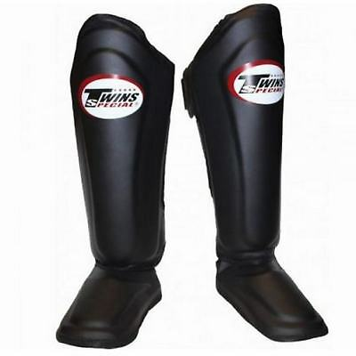 Twins Special SGL10 Black Martial Arts Muay Thai Sport Boxing Shin Pads Guards